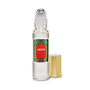 Amber Perfume Oil Roll-On – Alcohol Free Perfumes for Women and Men by Nemat Fragrances, 10 ml / 0.33 fl Oz