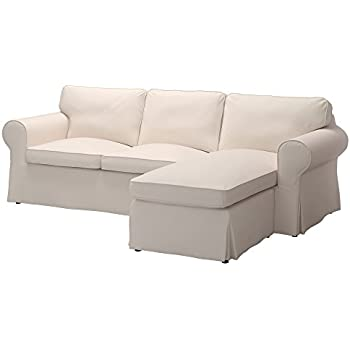 IKEA Original Ektorp Cover For Sofa With Chaise 3 Seat Sectional Only
