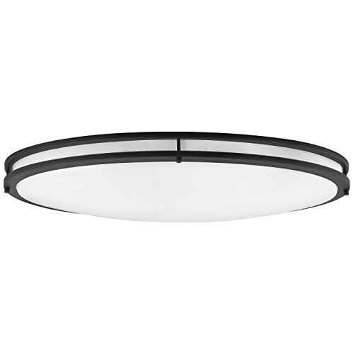(Sunlite 49095-SU LED 32-Inch Oval Flush Mount Ceiling Light Fixture 30K - Warm White, Dimmable, Energy Star, 2650 Lumens, 35 Watts,)