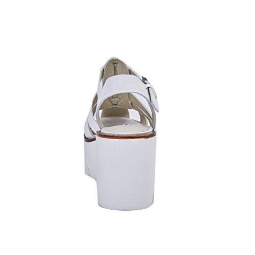 Smith Windsor Femme Bianco Duveteux Sandales Blanc f6S74q