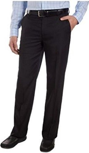 - IZOD Men's Performance Stretch Straight Dress Pant (Black, 36W x 34L)
