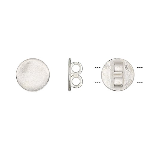 Bola slide silver-plated brass 10mm round fits 2mm cord