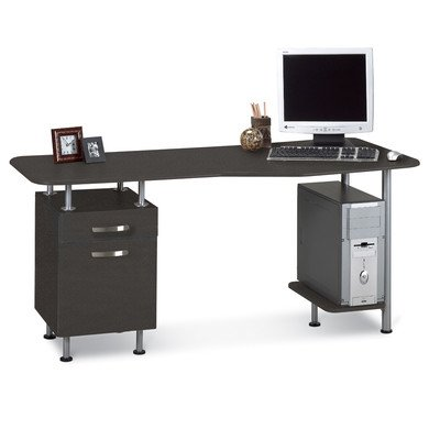 Compact Box/File Desk Computer Workstation (Keyboard Drawer Flat Panel Display)