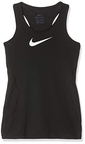 Nike Girl's Pro Training Tank Top Black/White Size ()