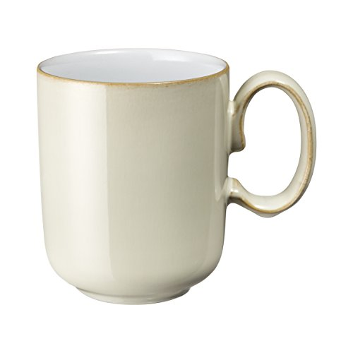 Denby Linen Straight Mug, Medium, - Denby White Coffee