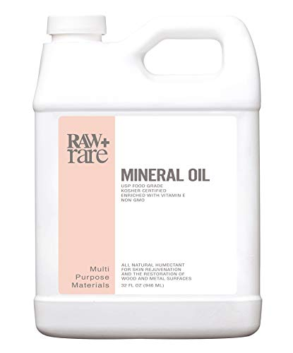Mineral Oil 32 oz, Food Grade Safe Wood/Bamboo Oil, Cutting Board, Butcher Block Conditioner, Knife Blade, Cast Iron Tools, Pans For Food Kitchen, Vegan, Laxative by Raw Plus