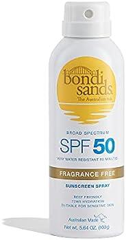 Bondi Sands Fragrance Free Sunscreen Aerosol Mist | Hydrating Broad Spectrum Protection, Sheer, Water Resistan