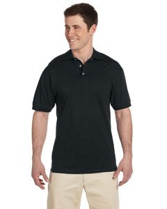 Heavyweight Jersey Sweater - Jerzees 6.1 oz. Heavyweight Cotton Jersey Polo L BLACK