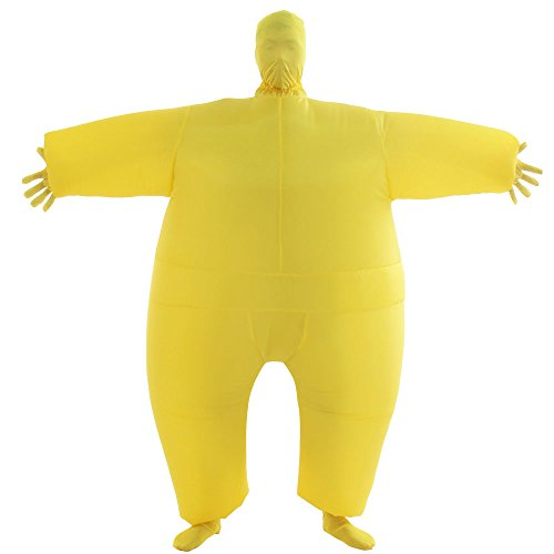 VOCOO Lnflatable Costumes Adult Size Inflatable Body Suits Pants (Yellow)