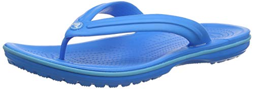 crocs Unisex Crocband Flip Flop,  Ocean/Electric Blue, 4 US Men / 6 US Women