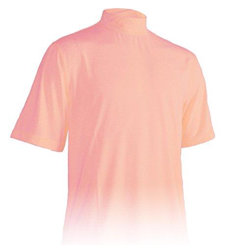 (Monterey Club Mens Dry Swing Classic Pique Mock Neck Shirt #3303 (Pastel Pink, X-Large))