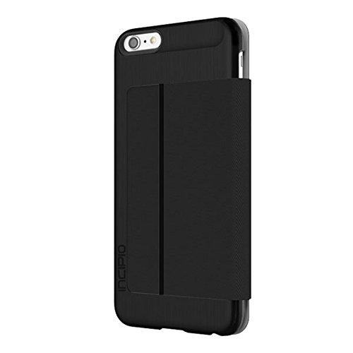 innovative design c0571 05a6a iPhone 6S Plus Case, Incipio Highland Premium Folio [Credit Card] Wallet  Folio fits iPhone 6 Plus, iPhone 6S Plus-Black/Black