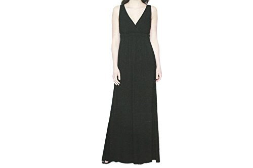 Matty M Women's Crossover V-Neck Pull Over Summer Maxi Dress Sun Dress (Small, Black) ()