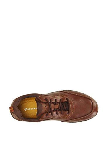 Rockport Roc Sports Lite II Mudguard - Zapatos de Cordones de cuero hombre Marrón