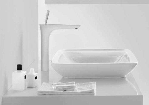 Hansgrohe 15081401 PuraVida 200 Single-Hole Faucet, White/Chrome ...