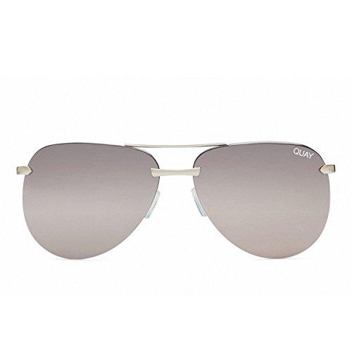 Quay Australia THE PLAYA Women's Sunglasses Aviator Frameless Sunnies - - Quay Silver