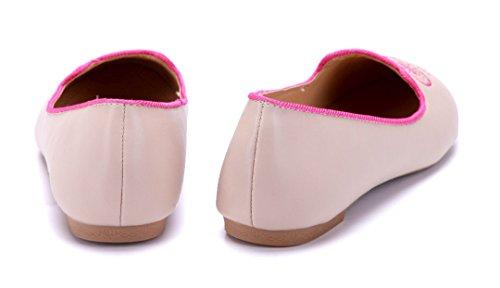 Schuhtempel24 Damen Schuhe Klassische Ballerinas Rosa Flach nqQAAH