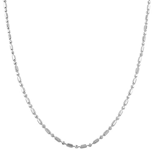 (Kooljewelry Sterling Silver Alternate Ball and Bar Chain Necklace (1.8 mm, 20 inch))