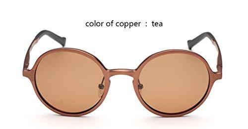 Aluminum and Magnesium Sun Glasses Men Round Polarized Sun Glasses Man Glasses Accessories Glasses,blue