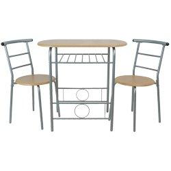 High Quality FRÜHSTÜCKSTISCH MIT 2 STÜHLEN Tisch Stuhl Küchentisch Buche Küche