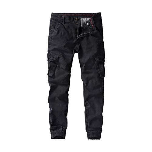 Ezekiel Walking Shorts - MIUCAT Men's Solid Color Casual Wash Pocket Tooling Trousers Multi Casual Pockets Mid Waist Solid Loose Long Pants