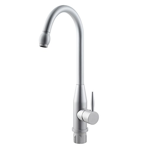 Furesnts Modern home kitchen and Bathroom Sink Taps Space Aluminum Hot/Cold Running Water Kitchen Faucet Basin Mixer,(Standard G 1/2 universal hose ports)