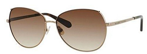 Kate Spade Women's Candida Aviator Sunglasses,Almond, Brown Cream,58 - Polarized Spade Kate Aviator Sunglasses