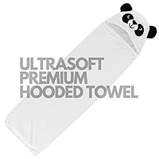 Animal Head Hooded Towels (panda#2)- This towel is ultra soft, hypoallergenic, free of pesticides and chemicals. It is generously sized at 35x35 inches and double layered. Last into toddler years.