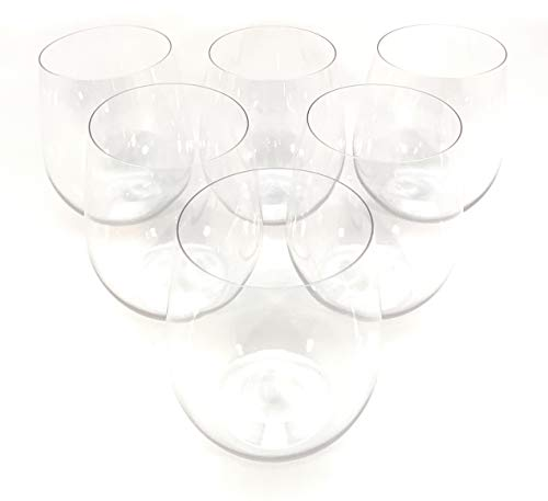 48 piece Stemless Unbreakable Crystal Clear Plastic Wine Glasses Set of 48 (12 Ounces) ()