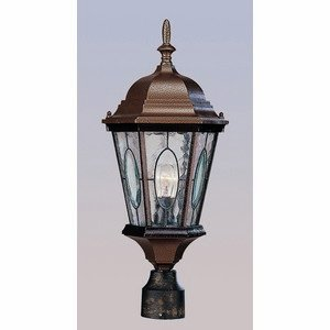 Trans Globe Lighting 4716 BG 1-Light Post Lantern, Black Gold