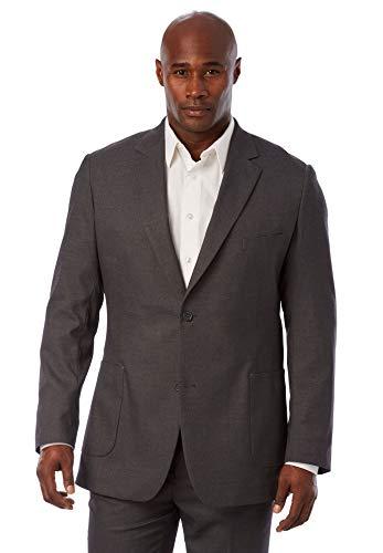 Liberty Blues Men's Big & Tall Best Fitting Blazer, Grey Big-54