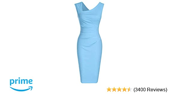 039b80de Amazon.com: MUXXN Women's Retro 1950s Style Sleeveless Slim Business Pencil  Dress: Clothing