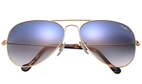 O-LET Aviator Sunglasses for Women Men Fishing Driving UV400 Glass Lens Aviators (58mm, ()