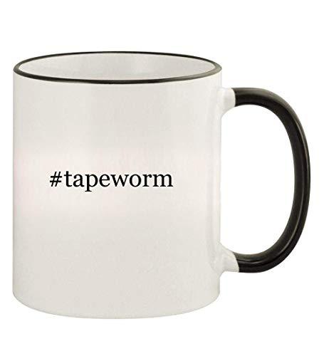 #tapeworm - 11oz Hashtag Colored Rim and Handle Coffee Mug, Black