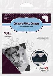 Bulk Buy: 3L/HELMAR Classic Style Paper Photo Corners .5'' (12mm) 126/Pkg Black 3L-PC-1626 (4-Pack) by HELMAR