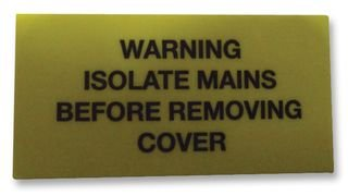 WARNING LABEL ISOLATE CARD OF 10 7827634 By PRO POWER