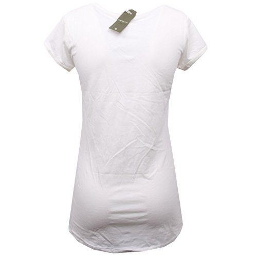 B8050 T Maglia Bianco shirt Avorio G Woman Raw Donna star T1w0Exq