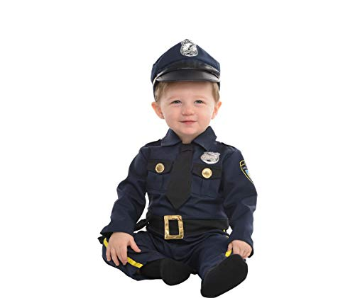AMSCAN Baby Cop Costume for Infants, 6-12 Months, with Included -