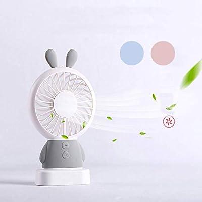Yiwann ventilador portátil, mini ventilador USB con luz LED ...