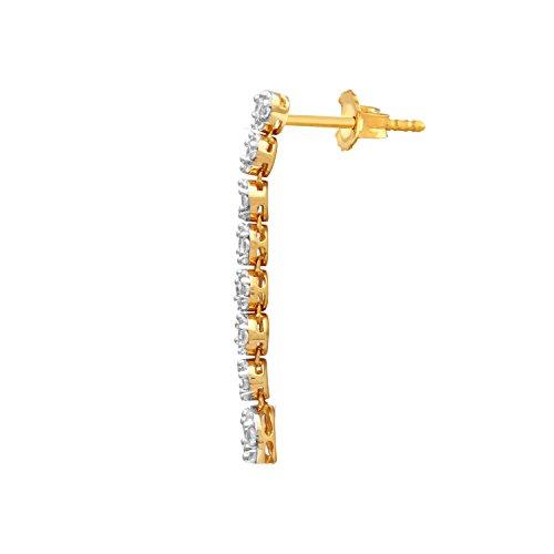 Giantti 14carats Diamant pour femme Dangler Boucles d'oreilles (2.45CT, VS/Si-clarity, Gh-colour)
