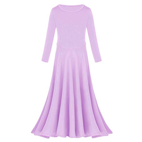 IBTOM CASTLE Little/Big Girls Celebration of Spirit Dance Drapey Tunic Tank Pullover Light Purple 13-14 Years ()