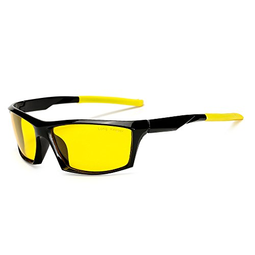 Long Keeper Night Vision Sunglasses Polarized Nightwatch Glasses for driving for Men - A Face Long Glasses For
