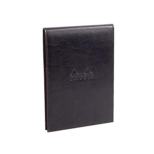 Rhodia Pad Holder with Pad 13200-4 1/2 x 6 1/4 - Black Cover
