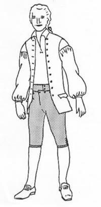 (Man's Drop Front Breeches pattern(Size Medium Waist: 32-34