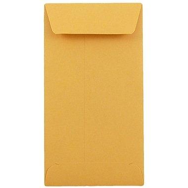 #10 Policy Envelopes (Open End), Brown Kraft, 4 1/8'' x 9 1/2'', 500/Box (24lb)