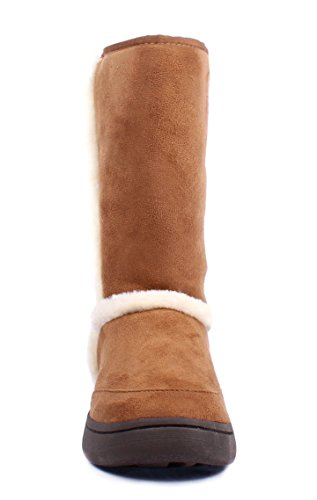 Bamboo Fashion Faux Fur Casual Slip on Only Womens Mid-calf Boots Size Shoes New Without Box Nature qyklwY