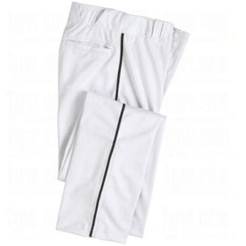 CHAMPRO Men's Sports Pro-Plus Open Bottom Pants with Piping, White/Black Pipe, Youth X-Large by CHAMPRO
