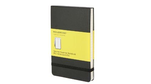 Moleskine Reporter Notebook, Pocket, Squared, Black, Hard Cover (3.5 x 5.5) (Reporter Notebooks)