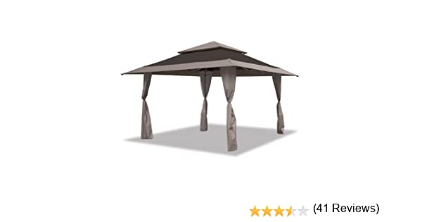 Amazon Mosaic 13 X Pop Up Gazebo Canopy Black Garden Outdoor