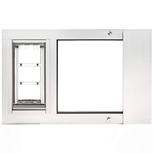 Endura Flap Thermo Sash 3e Pet Door for Sash Windows – Medium Flap (8″ x 15″), Sturdy Aluminum Frame (34″ – 37″, White)